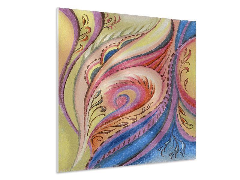 Hartschaumbild Paisley-Malerei