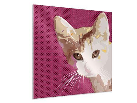 Hartschaumbild Pop Art Katze