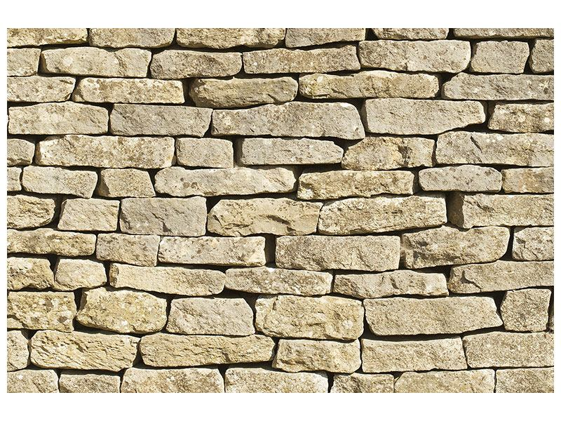 Hartschaumbild Alte Mauer