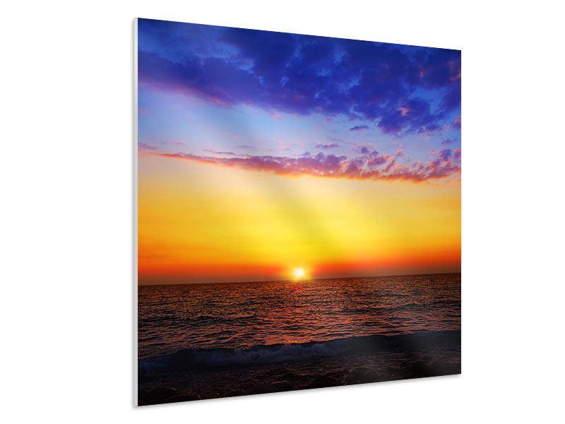Hartschaumbild Leuchtender Sonnenuntergang