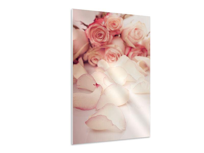 Hartschaumbild Rosen-Blütenblätter