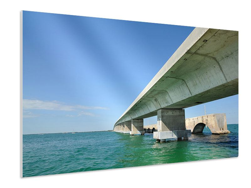 Hartschaumbild Seven Mile Bridge
