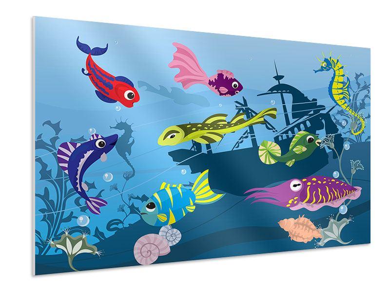 Hartschaumbild Fische im Wasser