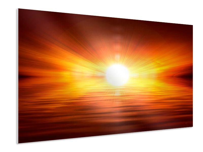 Hartschaumbild Glühender Sonnenuntergang