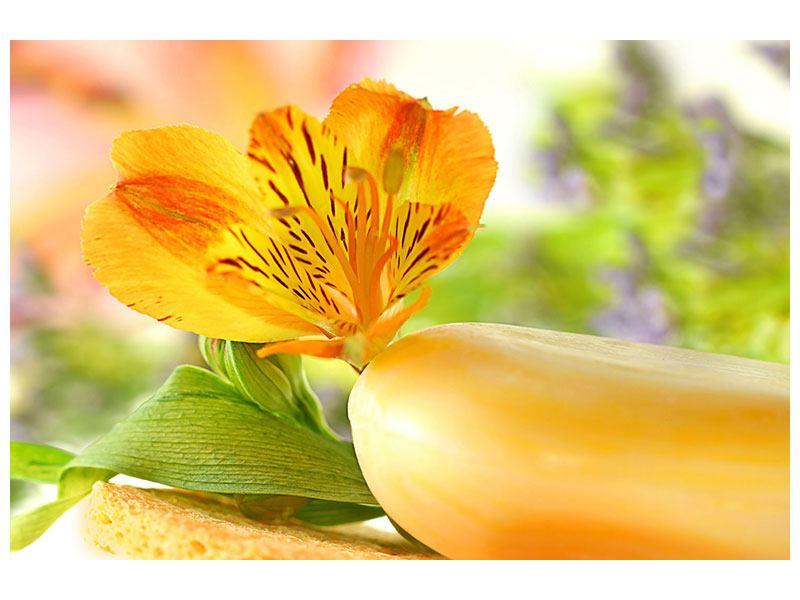 Hartschaumbild Lilien-Frühstück