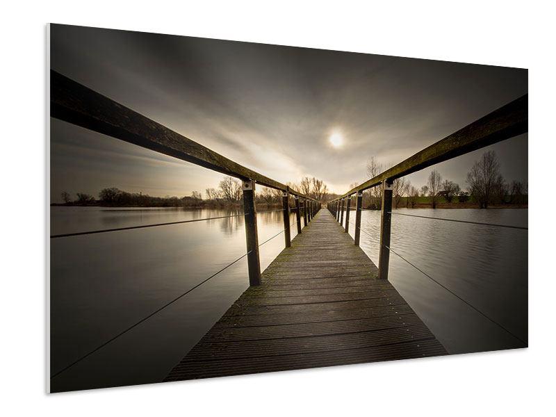 Hartschaumbild Die Holzbrücke