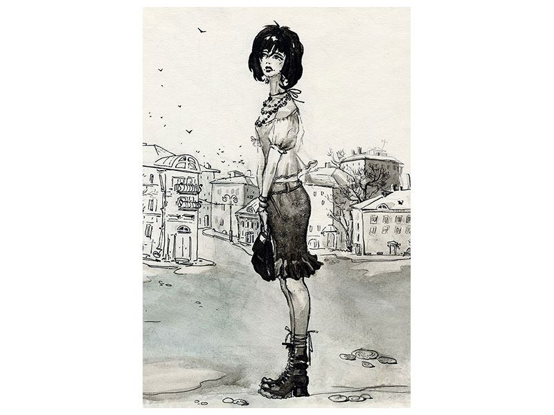Hartschaumbild Fashion Girl