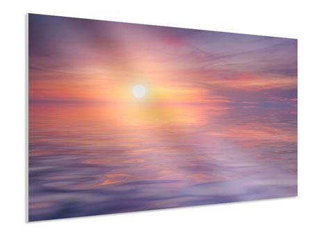 Hartschaumbild Sonnenuntergang auf See