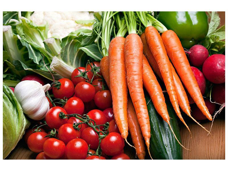 Hartschaumbild Gemüse