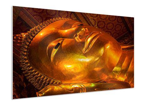 Hartschaumbild Liegender Buddha