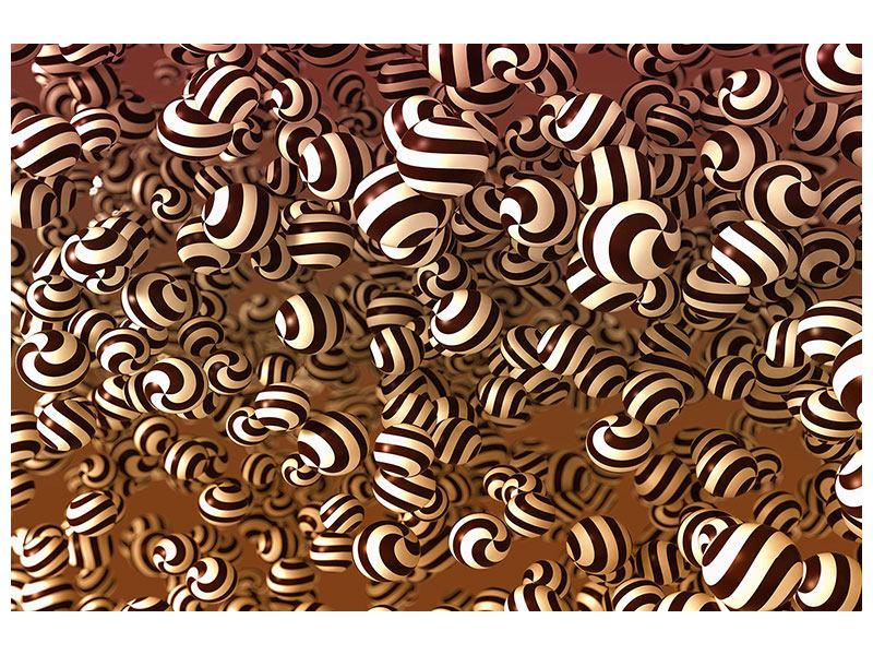 Hartschaumbild Schokoladen-Bonbons