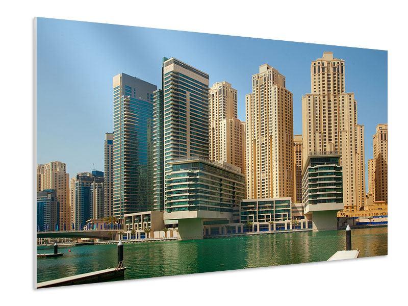 Hartschaumbild Spektakuläre Wolkenkratzer Dubai