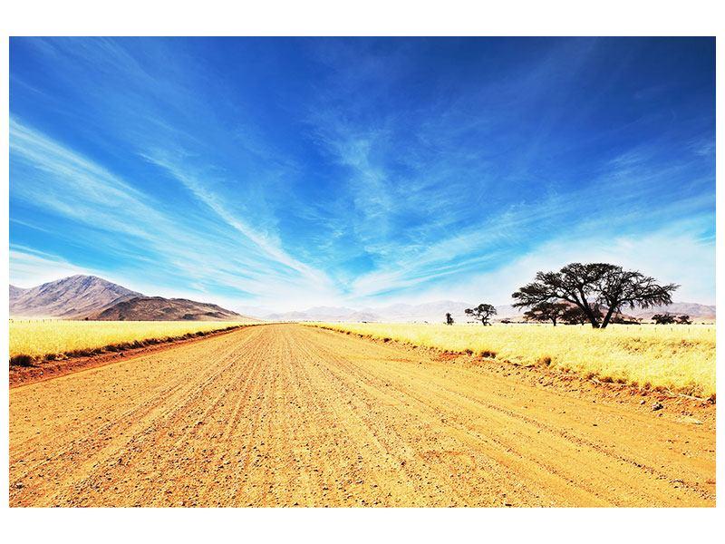 Hartschaumbild Eine Landschaft in Afrika