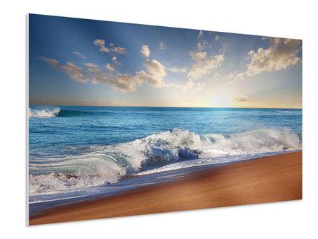 Hartschaumbild Die Wellen des Meeres
