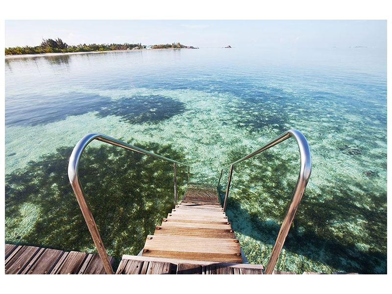Hartschaumbild Bad im Meer