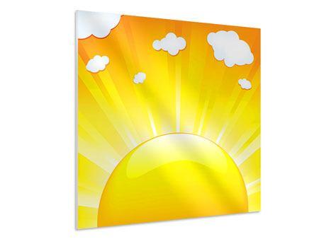 Hartschaumbild Die Sonne geht auf