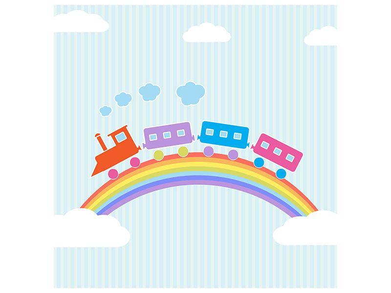 Hartschaumbild Der Regenbogenzug