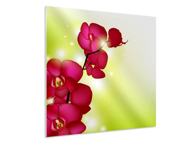 Hartschaumbild Heiligtum der Orchidee
