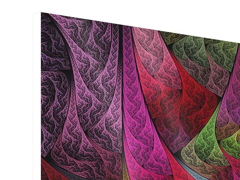 Hartschaumbild Fraktales Muster