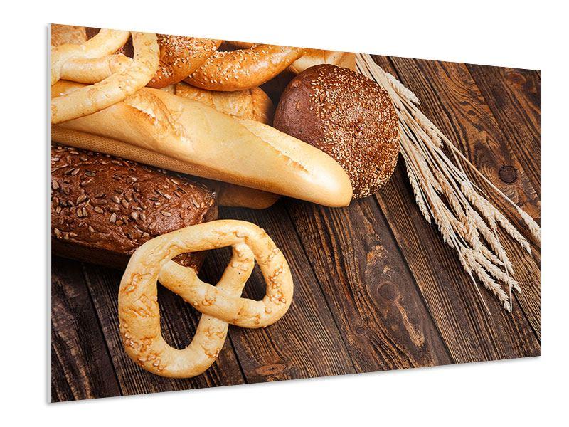 Hartschaumbild Brot und Bretzel