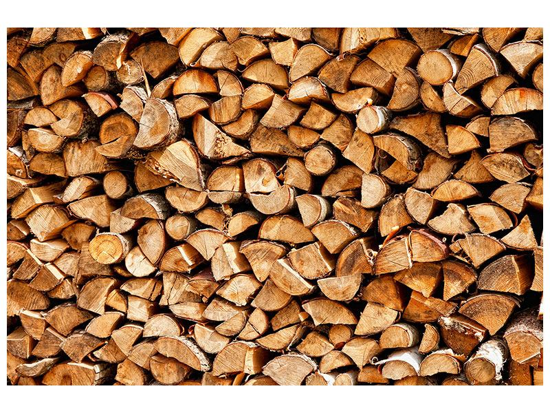 Hartschaumbild Gestapeltes Holz