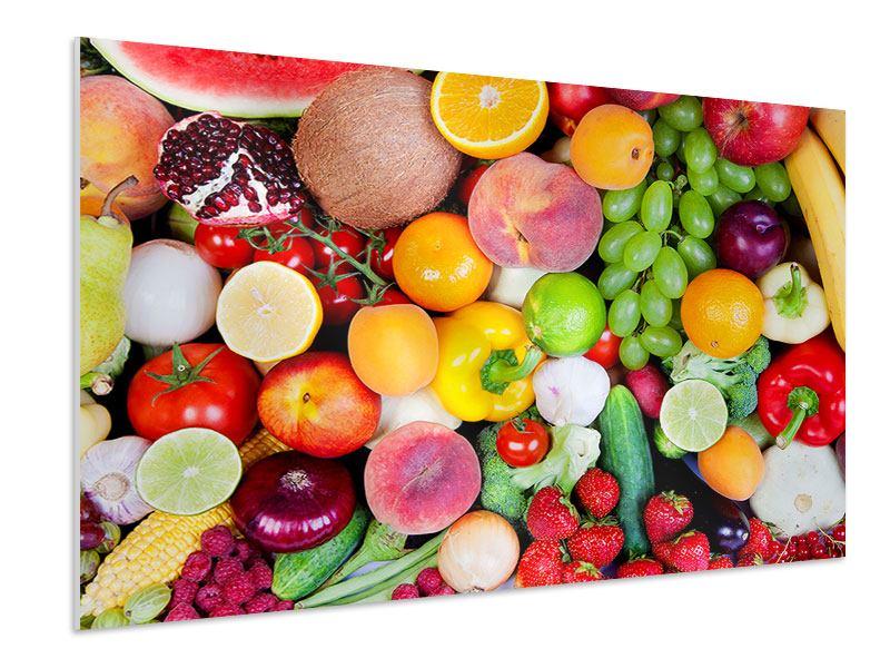Hartschaumbild Frisches Obst