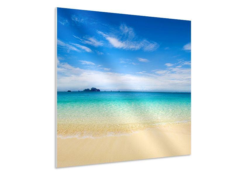 Hartschaumbild Blaue Lagune