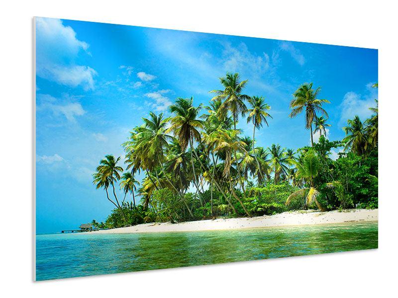 Hartschaumbild Reif für die Ferieninsel