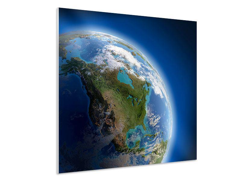 Hartschaumbild Die Erde