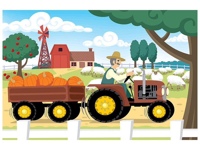 Hartschaumbild Bauernhof