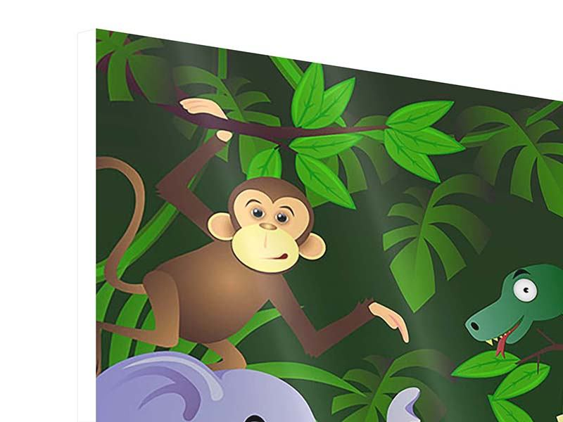 Hartschaumbild Dschungelsafari