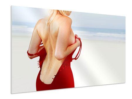 Hartschaumbild Rücken einer Schönheit