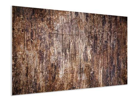 Hartschaumbild Retro-Holz