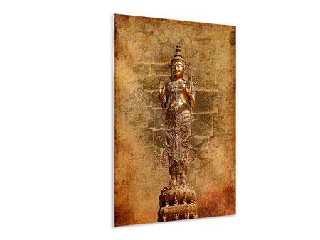 Hartschaumbild Goldene Buddha-Statue
