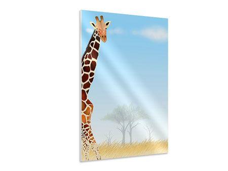 Hartschaumbild Giraffenfreund