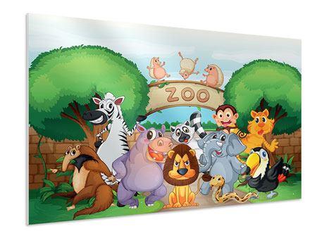Hartschaumbild Der lustige Zoo