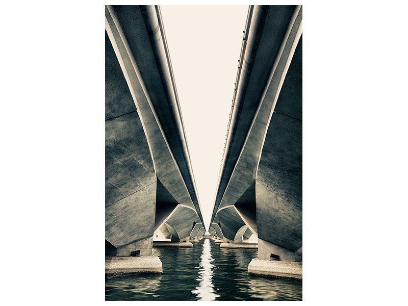 Hartschaumbild Brückenkunst