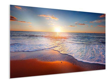 Hartschaumbild Sonnenuntergang am Horizont