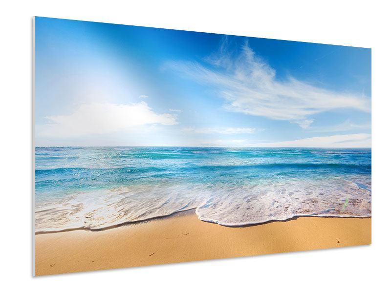 Hartschaumbild Spuren im Sand