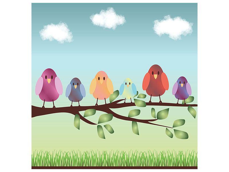 Hartschaumbild Alle Vögel sind schon da