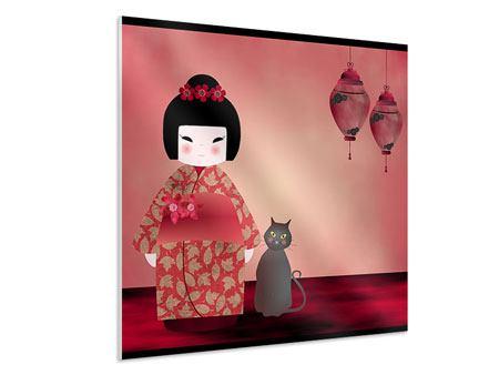 Hartschaumbild Chinese Girl