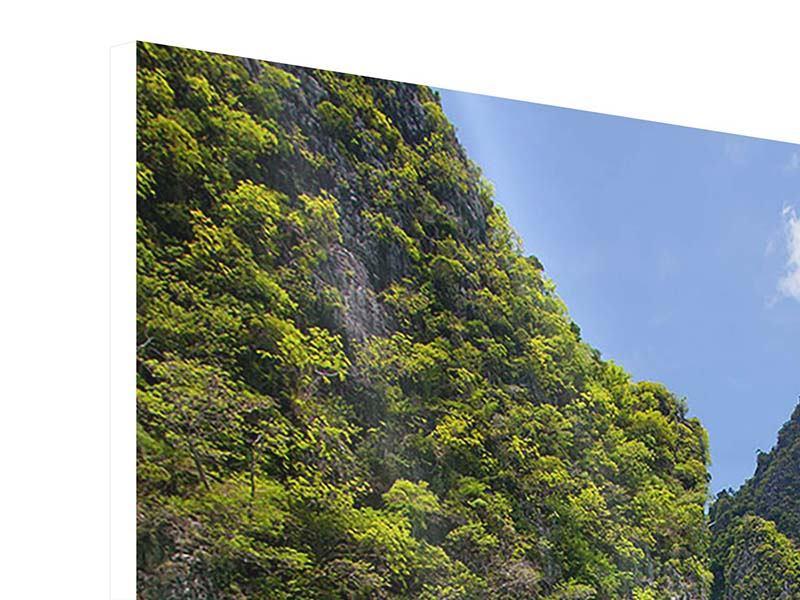 Hartschaumbild Das Kliff und das Meer