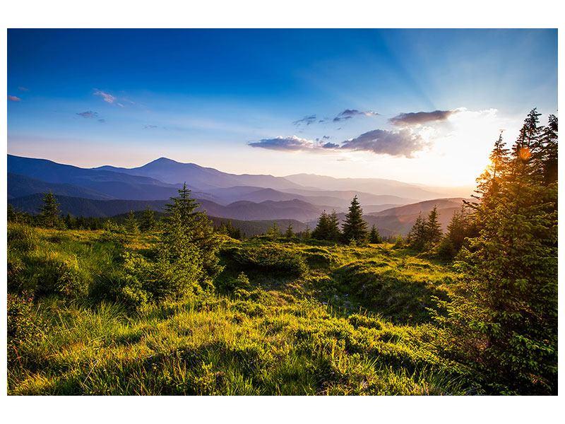 Hartschaumbild Friedliche Landschaft
