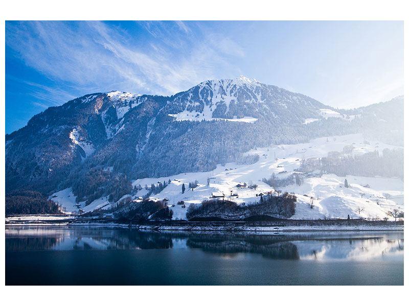 Hartschaumbild Winterwunderland