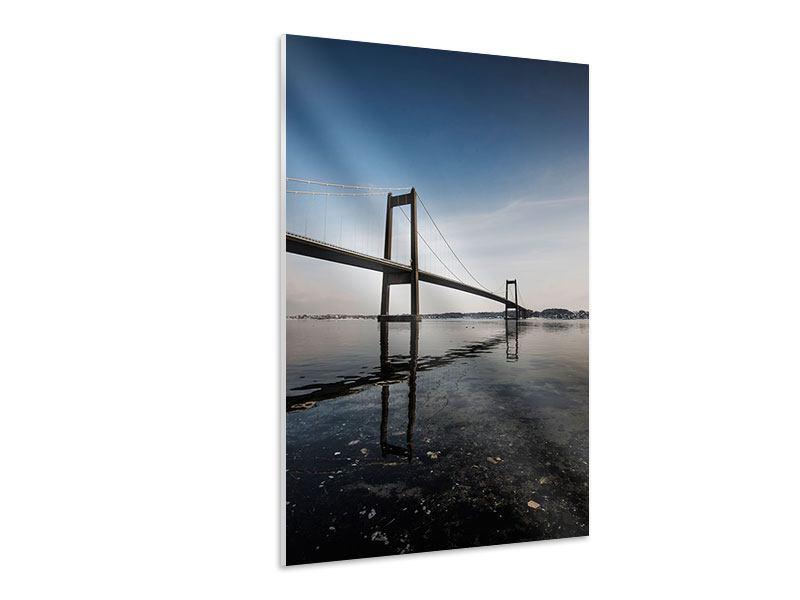 Hartschaumbild Moderne Brücke