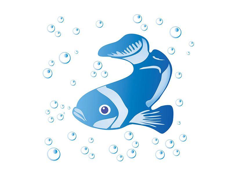 Hartschaumbild Fischi