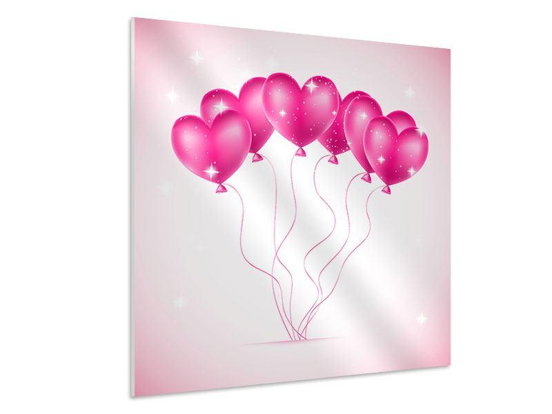Hartschaumbild Herzballons