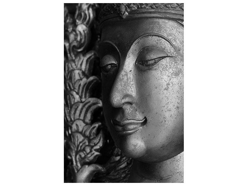 Hartschaumbild Buddha Close Up