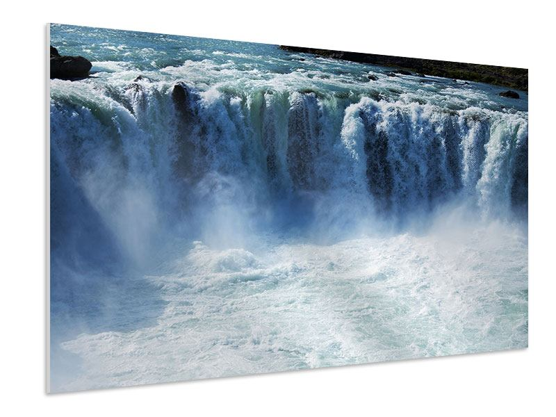 Hartschaumbild Mächtiger Wasserfall