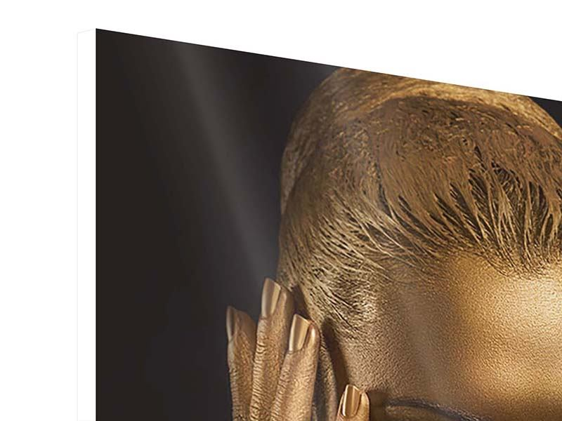 Hartschaumbild Gold-Face